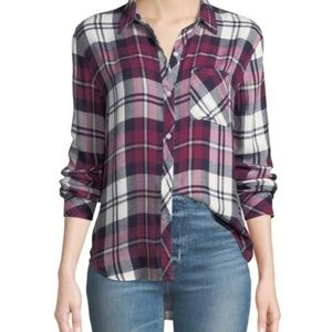 Rails Hunter Plaid Button-Front Long-Sleeve Shirt